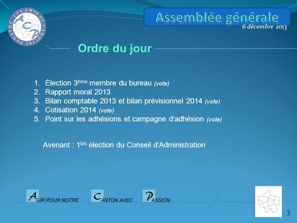 Assemblée générale Ordre du jour 3