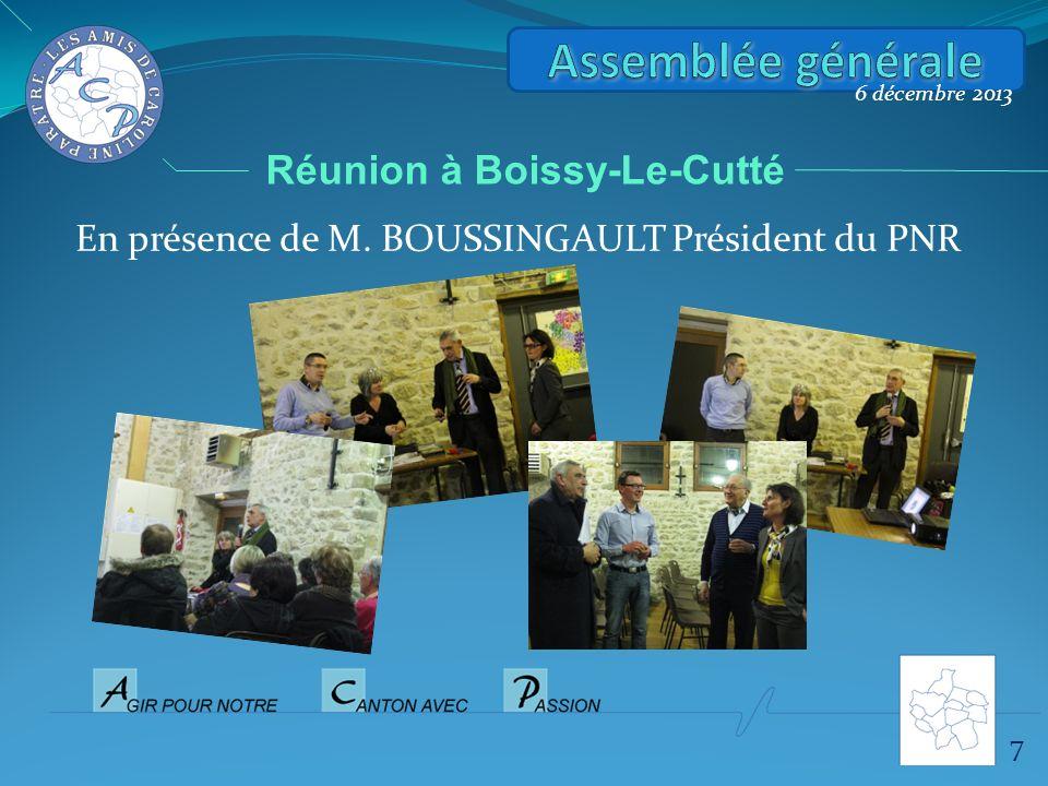 Assemblée générale Réunion à Boissy-Le-Cutté