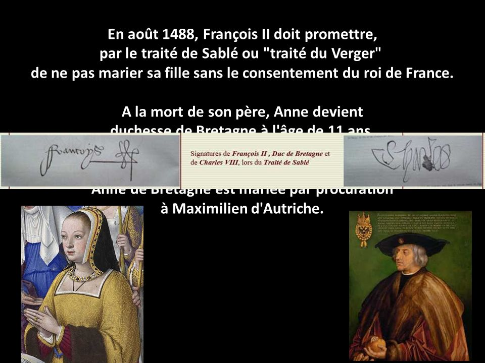 En août 1488, François II doit promettre,