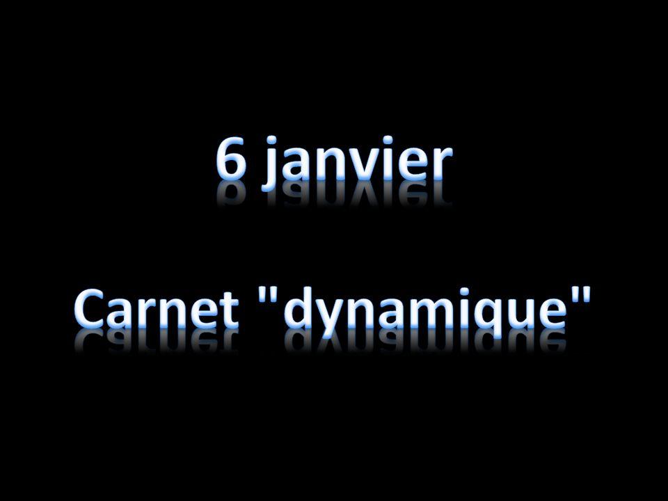 6 janvier Carnet dynamique