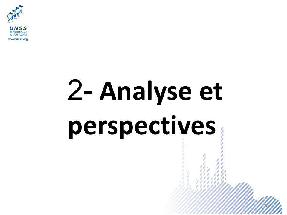 2- Analyse et perspectives