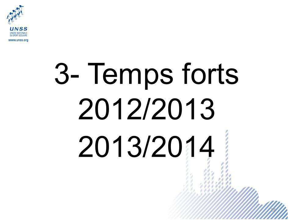 3- Temps forts 2012/2013 2013/2014