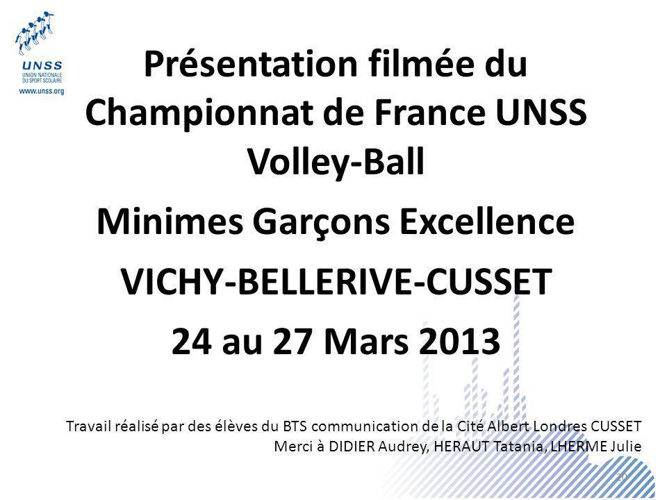 Présentation filmée du Championnat de France UNSS Volley-Ball