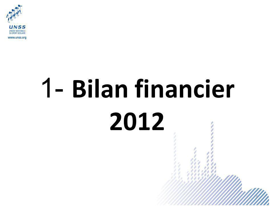1- Bilan financier 2012