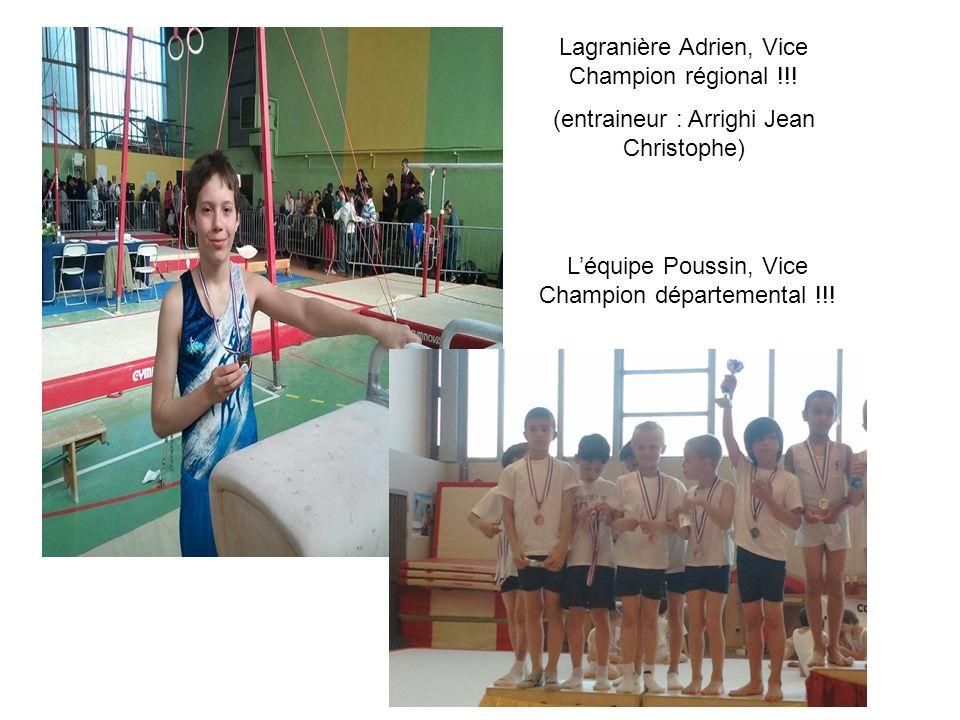 Lagranière Adrien, Vice Champion régional !!!