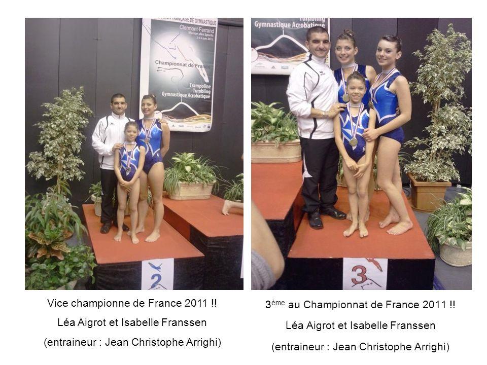 Vice championne de France 2011 !! Léa Aigrot et Isabelle Franssen