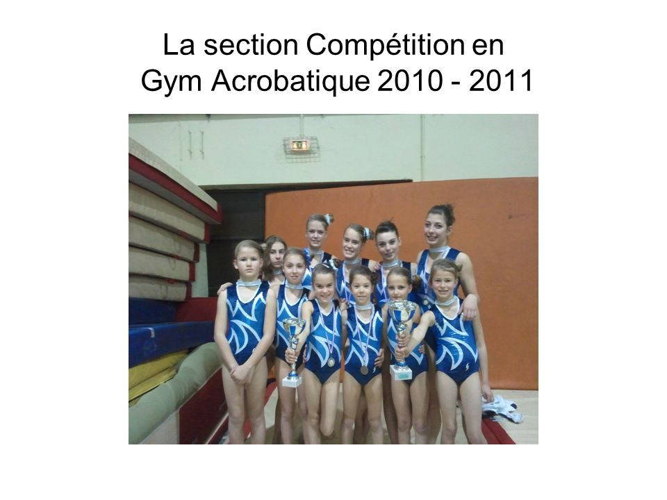 La section Compétition en Gym Acrobatique