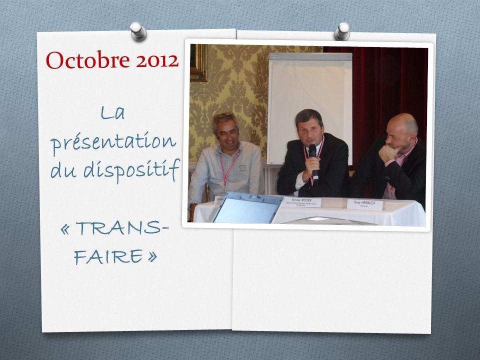 Octobre 2012 La présentation du dispositif « TRANS-FAIRE »