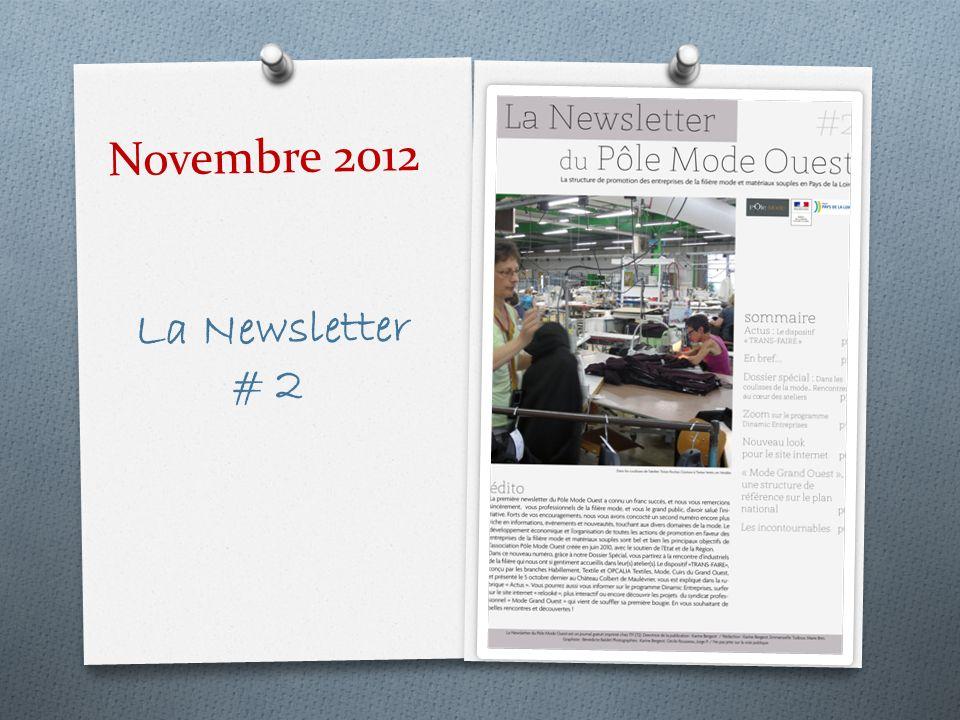 Novembre 2012 La Newsletter # 2