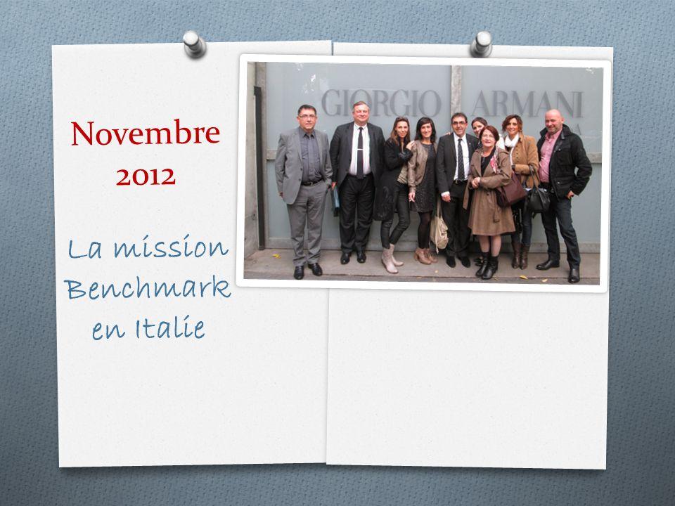 Novembre 2012 La mission Benchmark en Italie