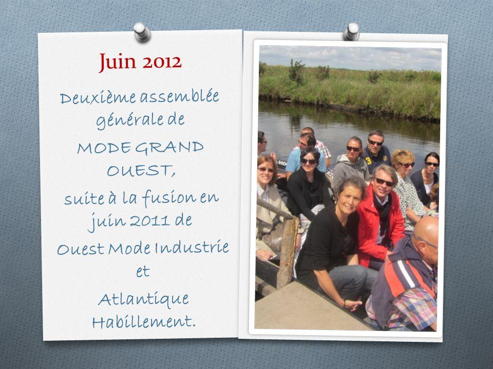 Juin 2012 Deuxième assemblée générale de MODE GRAND OUEST,
