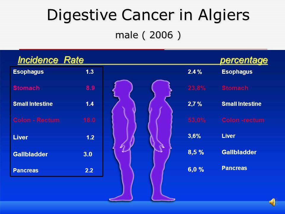 Digestive Cancer in Algiers male ( 2006 )