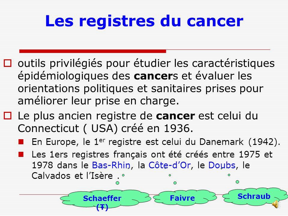 Les registres du cancer