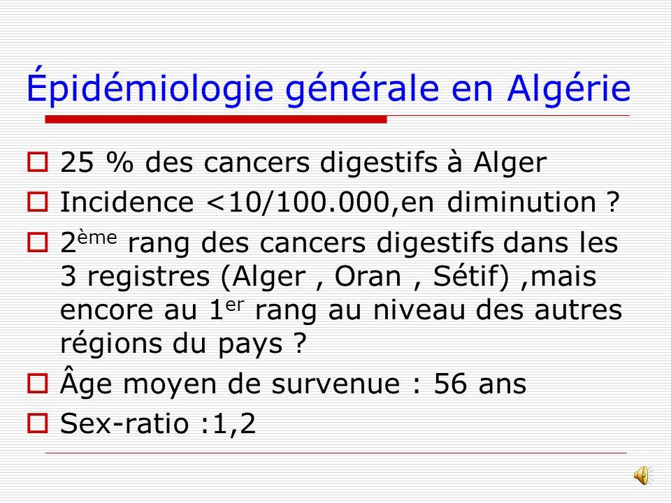 Épidémiologie générale en Algérie