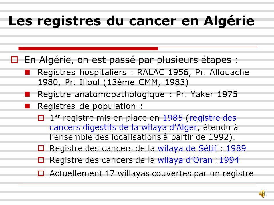 Les registres du cancer en Algérie