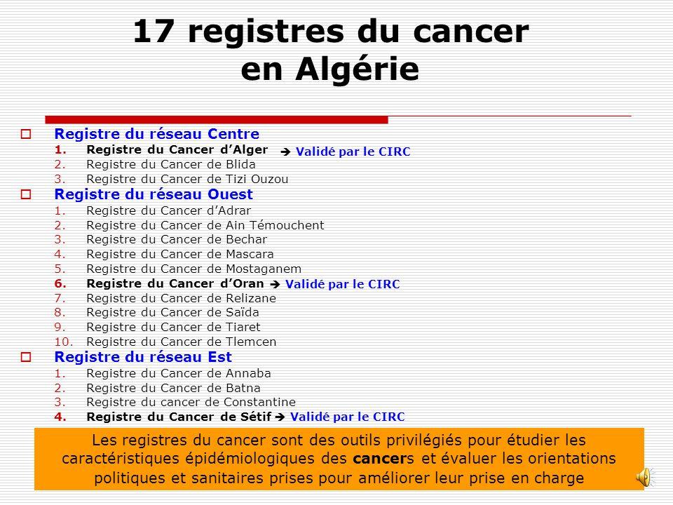 17 registres du cancer en Algérie