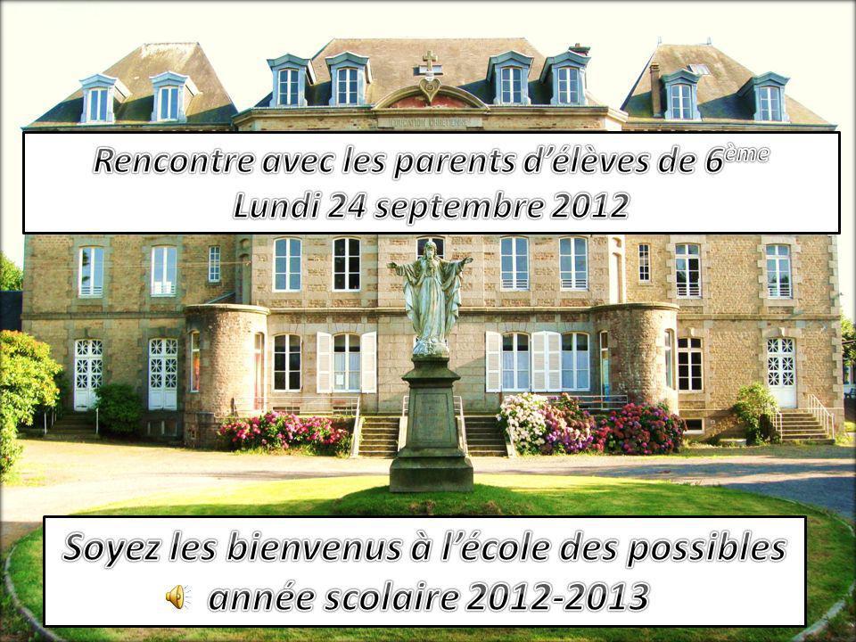 Soyez les bienvenus à l'école des possibles année scolaire 2012-2013