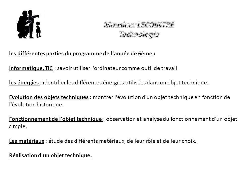 Monsieur LECOINTRE Technologie
