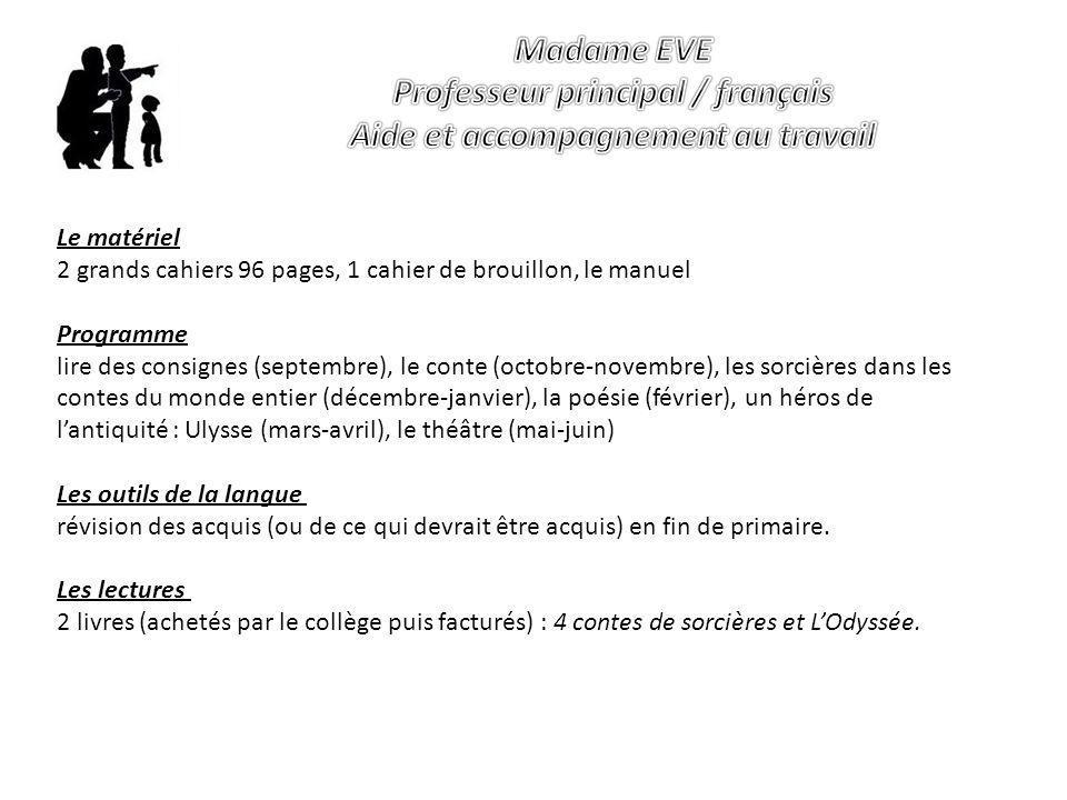 Professeur principal / français Aide et accompagnement au travail