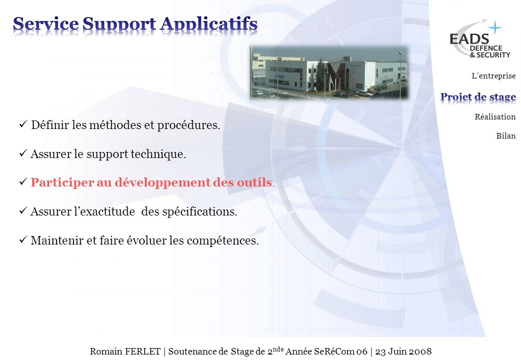 Service Support Applicatifs