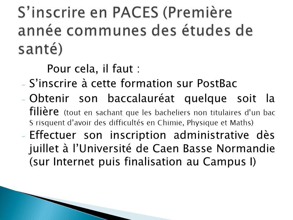 S'inscrire en PACES (Première année communes des études de santé)