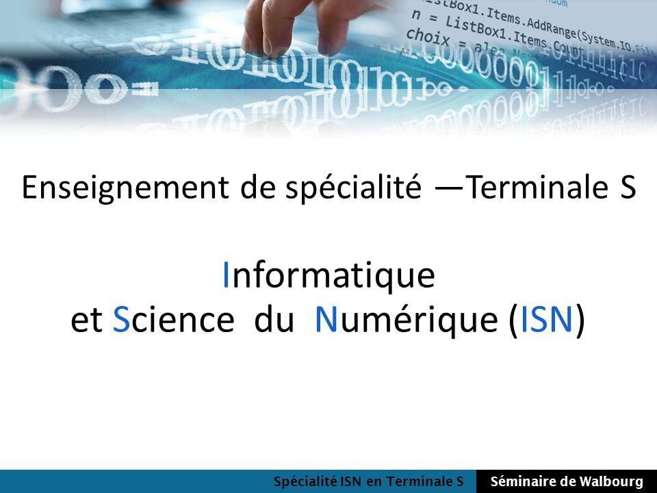 Informatique et Science du Numérique (ISN)