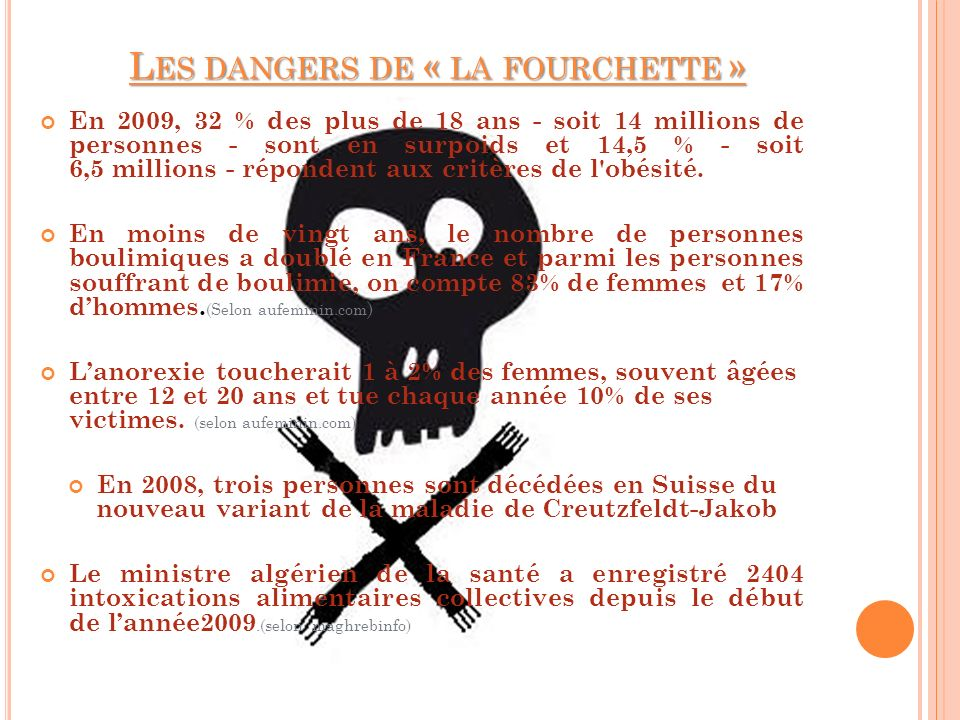 Les dangers de « la fourchette »