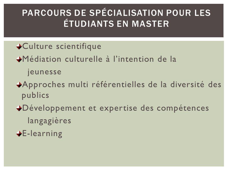 Parcours de spécialisation pour les étudiants en Master