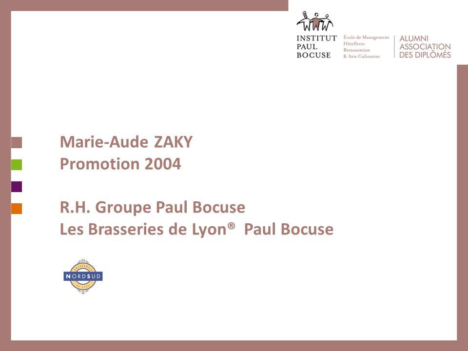 Marie-Aude ZAKY Promotion 2004 R. H