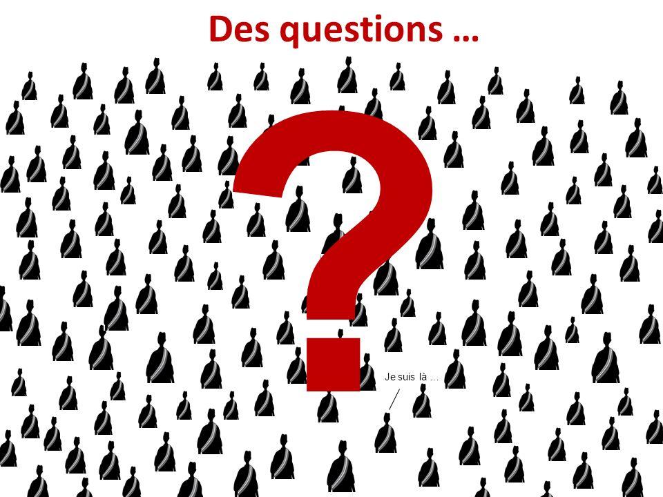 Des questions … Je suis là …