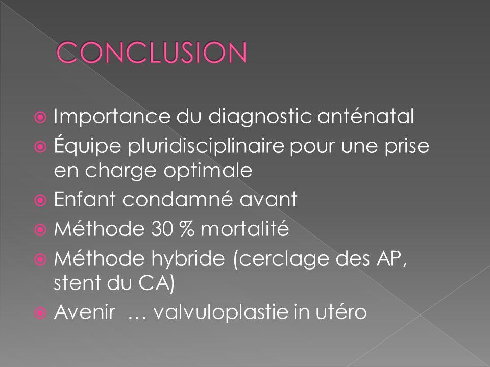 CONCLUSION Importance du diagnostic anténatal