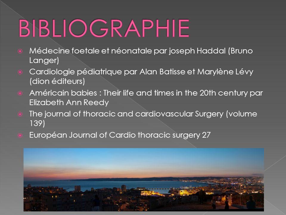 BIBLIOGRAPHIE Médecine foetale et néonatale par joseph Haddal (Bruno Langer)