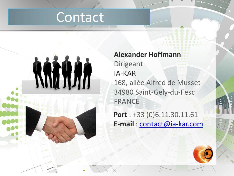 Contact Alexander Hoffmann Dirigeant