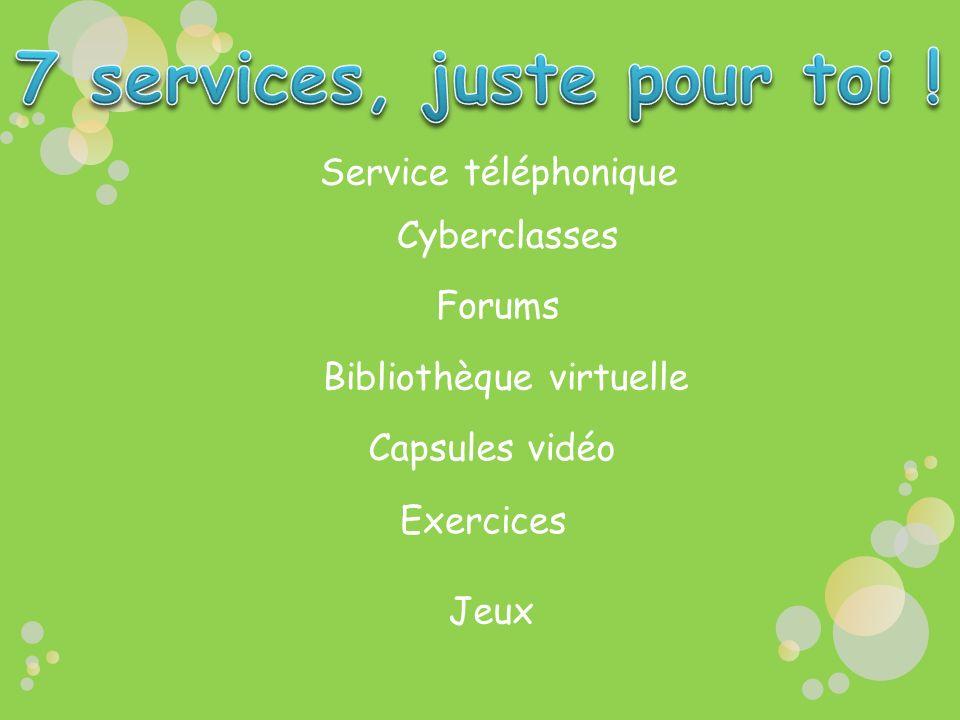 7 services, juste pour toi !