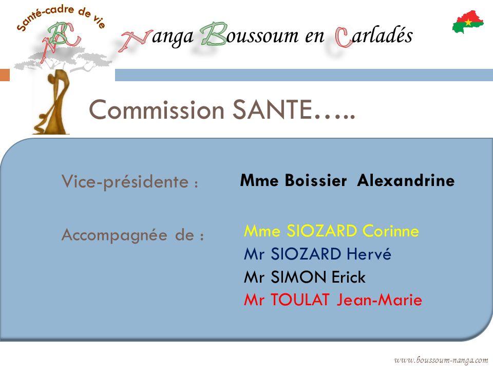 Commission SANTE….. anga oussoum en arladés Vice-présidente :