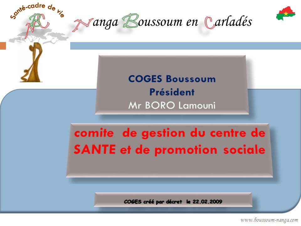 comite de gestion du centre de SANTE et de promotion sociale