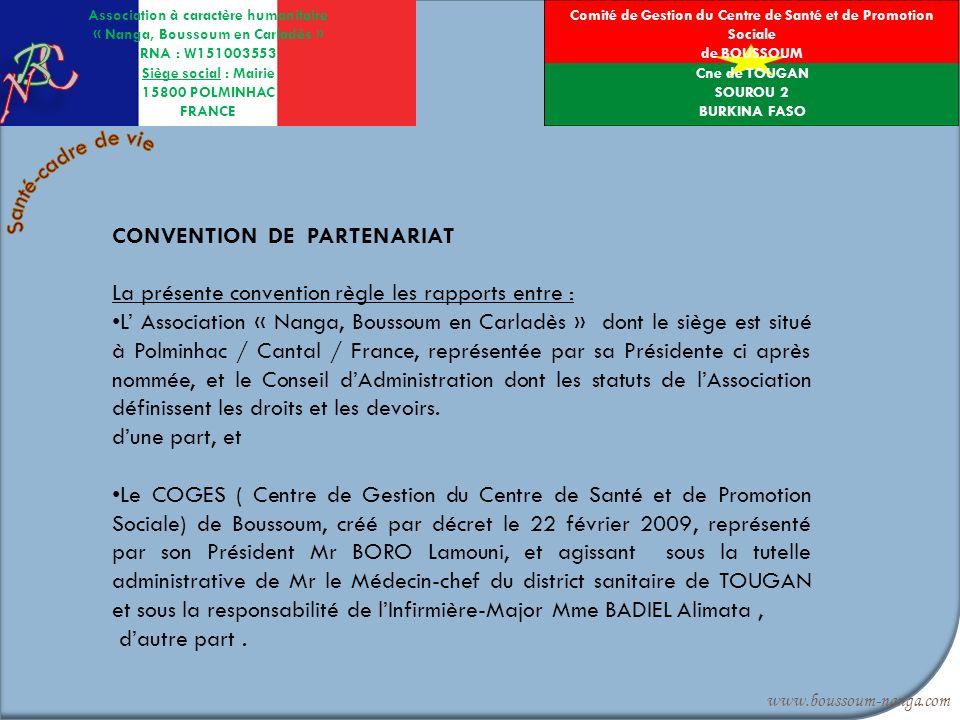 Comité de Gestion du Centre de Santé et de Promotion Sociale