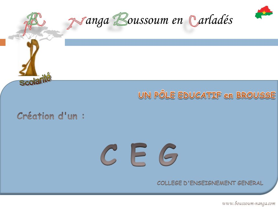 C E G C E anga oussoum en arladés COLLEGE D ENSEIGNEMENT GENERAL