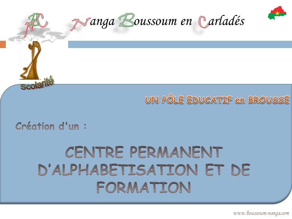 CENTRE PERMANENT D'ALPHABETISATION ET DE FORMATION