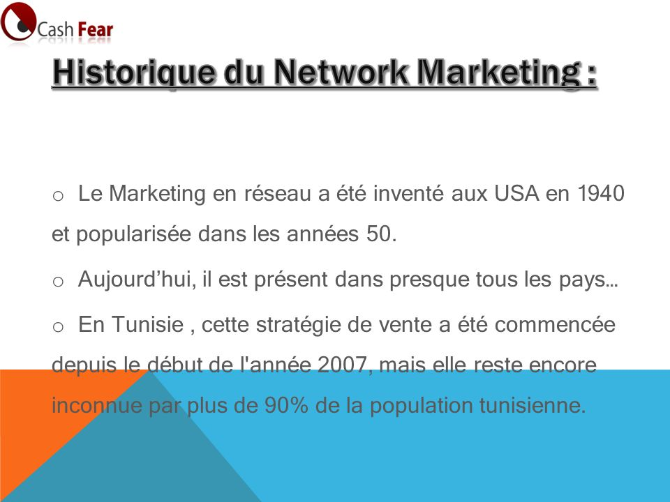 Historique du Network Marketing :