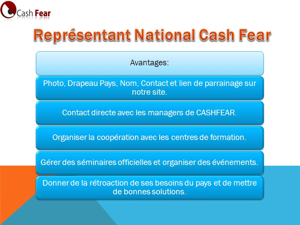 Représentant National Cash Fear