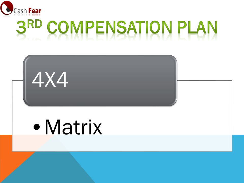 3rd Compensation Plan 4X4 Matrix