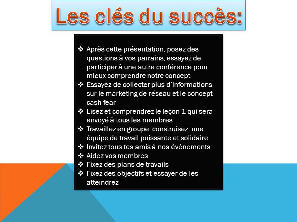 Les clés du succès: