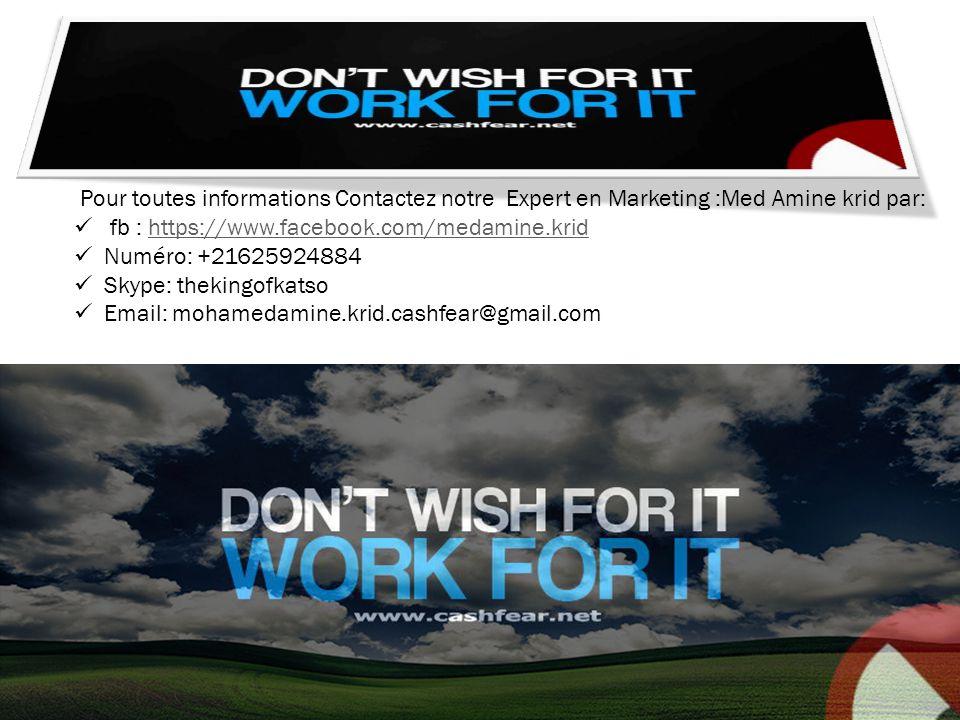 Pour toutes informations Contactez notre Expert en Marketing :Med Amine krid par: