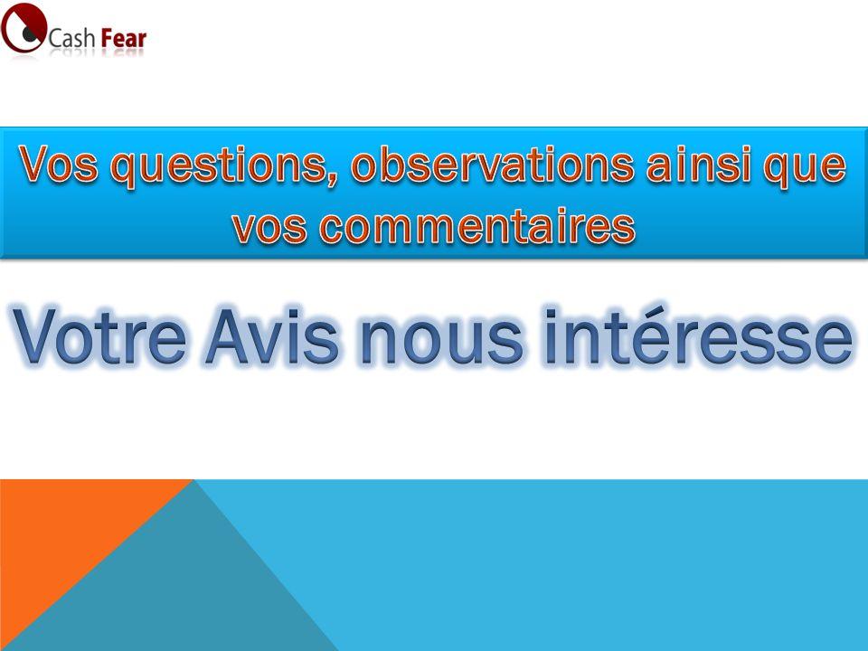 Vos questions, observations ainsi que Votre Avis nous intéresse