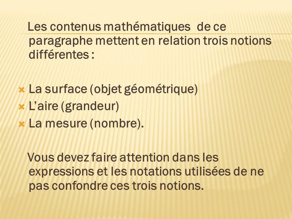Les contenus mathématiques de ce paragraphe mettent en relation trois notions différentes :