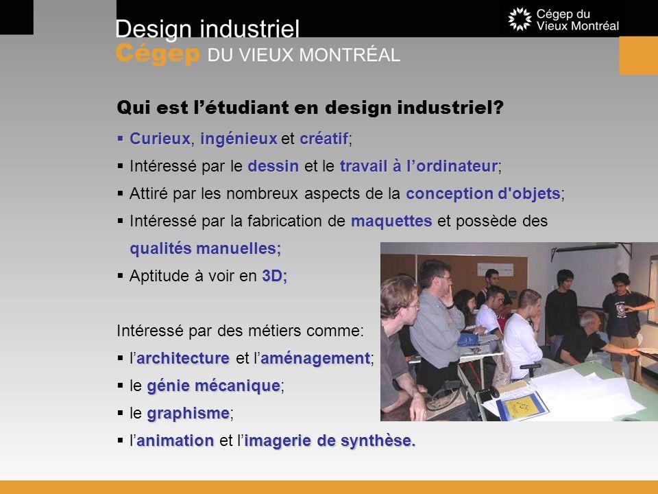 Qui est l'étudiant en design industriel
