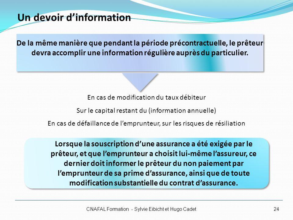 Un devoir d'information