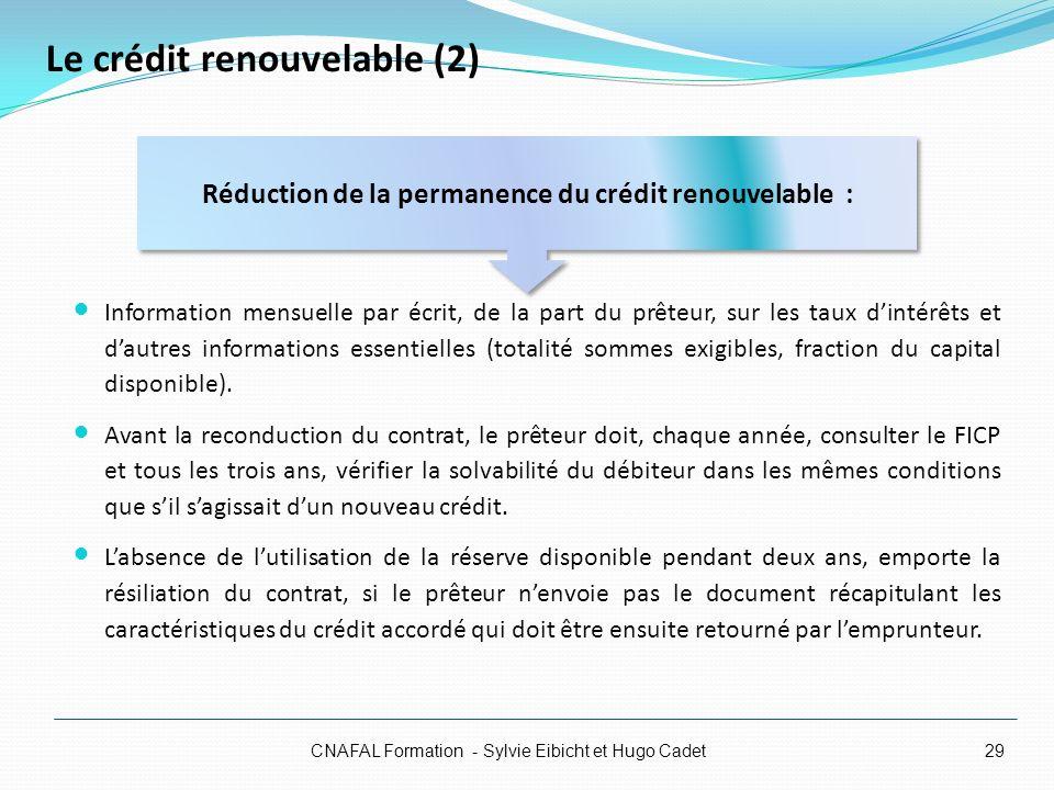 Le crédit renouvelable (2)