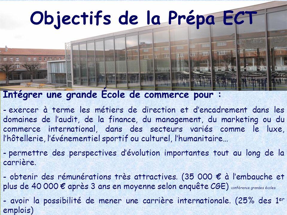 Objectifs de la Prépa ECT